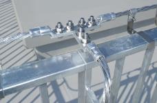 水平導体 導線取付金具(貼付型)