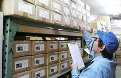 在庫の適正保管・数量の管理