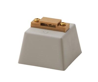 銅帯取付金物 Pブロック付横型